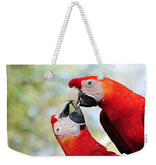 Macaws Weekender Tote Bag by Steven Sparks