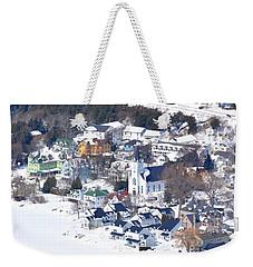 Mackinac Island Winter Weekender Tote Bag