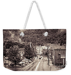 Weekender Tote Bag featuring the photograph Main Street Webster Springs by Thomas R Fletcher