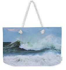 Weekender Tote Bag featuring the photograph Making Waves by Robin-Lee Vieira