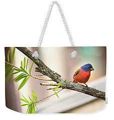 Male Painted Bunting Weekender Tote Bag
