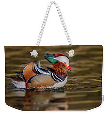 Weekender Tote Bag featuring the photograph Mandarin Duck  by Susan Candelario