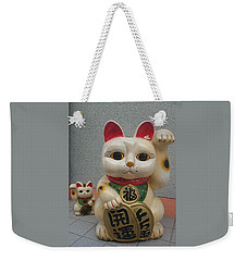 A Figure Of A Beckoning Cat, Called 'manekineko' Weekender Tote Bag