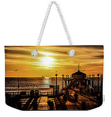 Pier Of Gold Weekender Tote Bag by April Reppucci