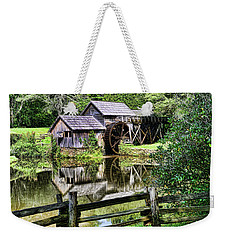 Weekender Tote Bag featuring the photograph Marby Mill Pathway by Paul Ward