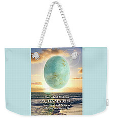 March Birthstone Aquamarine Weekender Tote Bag