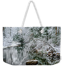 Weekender Tote Bag featuring the photograph March Snow Cranberry River by Thomas R Fletcher