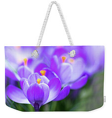 Weekender Tote Bag featuring the photograph Marching Into Spring by Rebecca Cozart