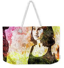 Maria Valverde Weekender Tote Bag by Svelby Art