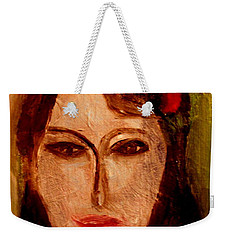 Weekender Tote Bag featuring the painting Marianne by Bill OConnor