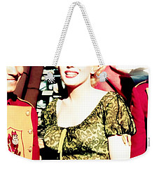 Weekender Tote Bag featuring the photograph Marilyn Monroe by R Muirhead Art