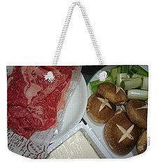 Materials Of The Sukiyaki Dish  Weekender Tote Bag