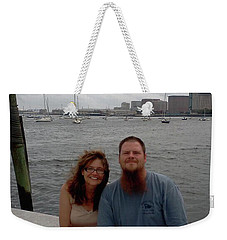 Weekender Tote Bag featuring the photograph me by Richie Montgomery