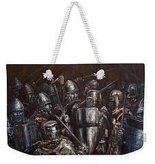 Medieval Battle Weekender Tote Bag by Arturas Slapsys