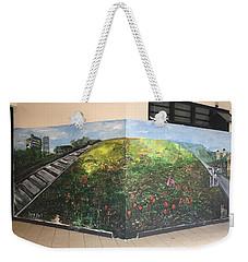 Weekender Tote Bag featuring the painting Memories Of Commonwealth by Belinda Low