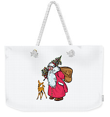 Weekender Tote Bag featuring the painting Merry Christmas. by Andrzej Szczerski