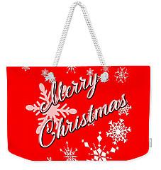 Weekender Tote Bag featuring the digital art Merry Christmas by Judy Hall-Folde