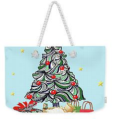 Merry Christmas Weekender Tote Bag by Quwatha Valentine