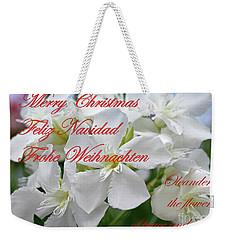 Merry Christmas Weekender Tote Bag