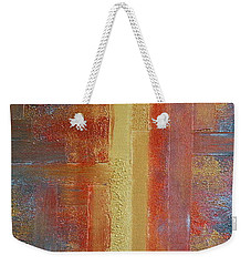Metallic Abstract 2 Weekender Tote Bag by Teresa Wegrzyn