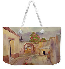 Mexican Street Scene Weekender Tote Bag by Larry Hamilton
