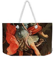 Michael Defeats Satan Weekender Tote Bag