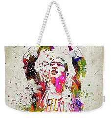 Michael Jordan In Color Weekender Tote Bag