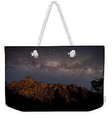 Milky Way Galaxy Over Zion Canyon Weekender Tote Bag