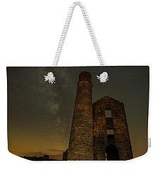 Milky Way Over Old Mine Buildings. Weekender Tote Bag