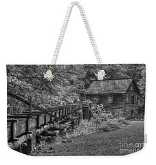 Weekender Tote Bag featuring the photograph Mingus Mill 3 Mingus Creek Great Smoky Mountains Art by Reid Callaway