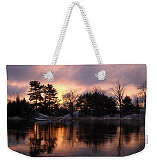 Mississippi River Dawn Light Weekender Tote Bag by Kent Lorentzen