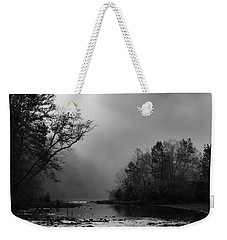 Weekender Tote Bag featuring the photograph Mist On The River by James Barber