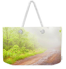 Misty Back Road, Pocono Mountains, Pennsylvania Weekender Tote Bag