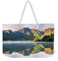 Misty Dawn Lake Weekender Tote Bag by Ian Mitchell