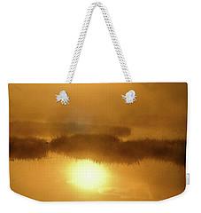 Weekender Tote Bag featuring the photograph Misty Gold by Tatsuya Atarashi