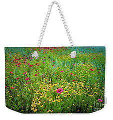Weekender Tote Bag featuring the photograph Mixed Wildflowers In Bloom by D Davila