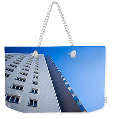Weekender Tote Bag featuring the photograph Modern Apartment Block by John Williams