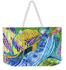 Weekender Tote Bag featuring the painting Mollusk Mondays by Polly Castor