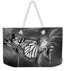 Monarach Butterfly Enjoying Some Dahlia Nectar Weekender Tote Bag