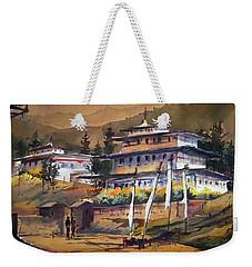 Monastery In Himalaya Mountain Weekender Tote Bag