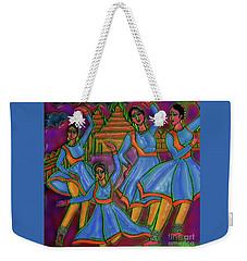 Weekender Tote Bag featuring the digital art Monsoon Ragas by Latha Gokuldas Panicker