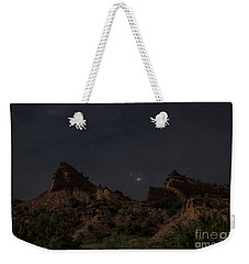 Weekender Tote Bag featuring the photograph Moonlit Canyon by Melany Sarafis