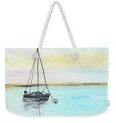 Moored Sailboat Weekender Tote Bag by R Kyllo