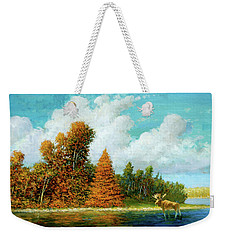 Moose Country Weekender Tote Bag