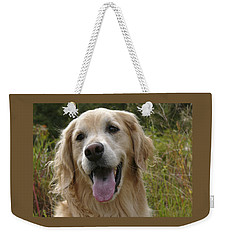 Weekender Tote Bag featuring the photograph Morgie by Rhonda McDougall