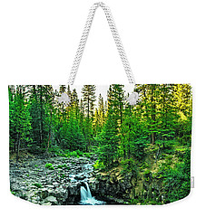 Morning At The Falls Weekender Tote Bag by Nancy Marie Ricketts