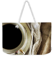 Weekender Tote Bag featuring the photograph Morning Coffee by Bonnie Bruno