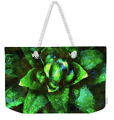 Morning Dew On Plant Weekender Tote Bag