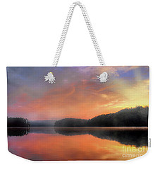 Weekender Tote Bag featuring the photograph Morning Solitude by Darren Fisher