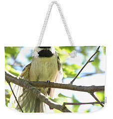 Weekender Tote Bag featuring the photograph Morning Stretch by Angie Rea